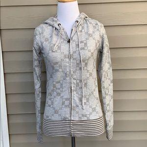 XX1 women's gray& browns zip front hoodie